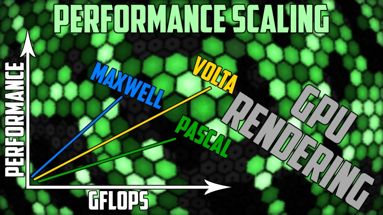 GPU rendering - Maxwell vs Pascal vs Volta performance scaling - V-Ray, Redshift, Indigo Renderer, LuxMark, Blender Cycles