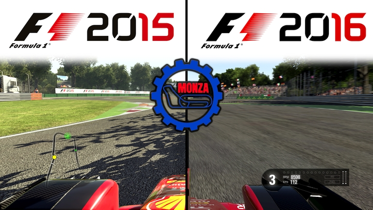 Codemasters F1 2015 vs F1 2016 Graphics Comparison @ Silverstone Rain