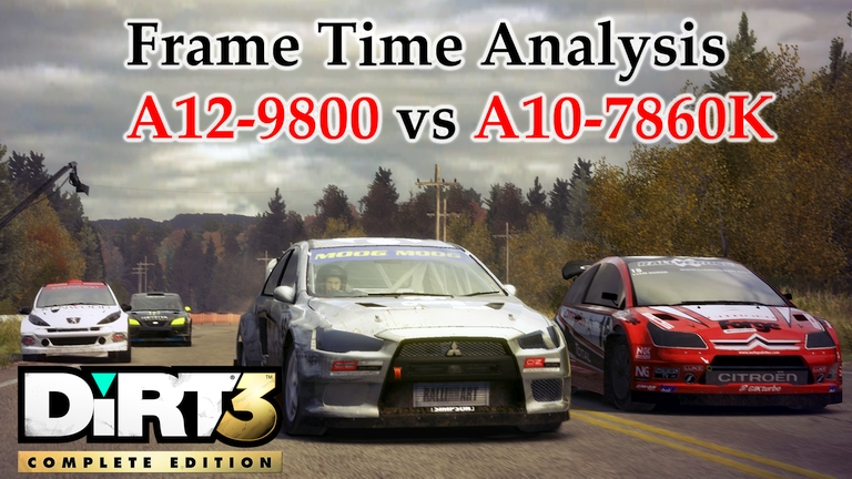 A12-9800 vs A10-7860K Frame Time Analysis - AMD APUs w/ R7 Graphics - DiRT 3 [SMELTER]