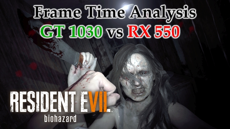 GT 1030 vs RX 550 Frame Time Analysis w/ G4560 - Resident Evil 7: Biohazard [FINDING MIA]