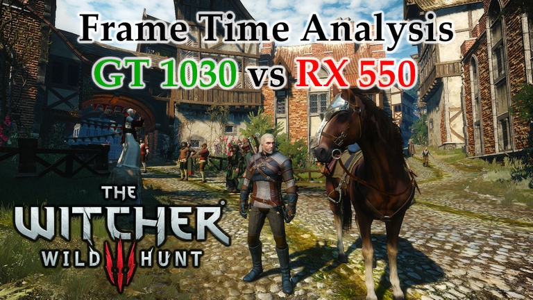 GT 1030 vs RX 550 Frame Time Analysis w/ G4560 - The Witcher 3: Wild Hunt [NOVIGRAD]
