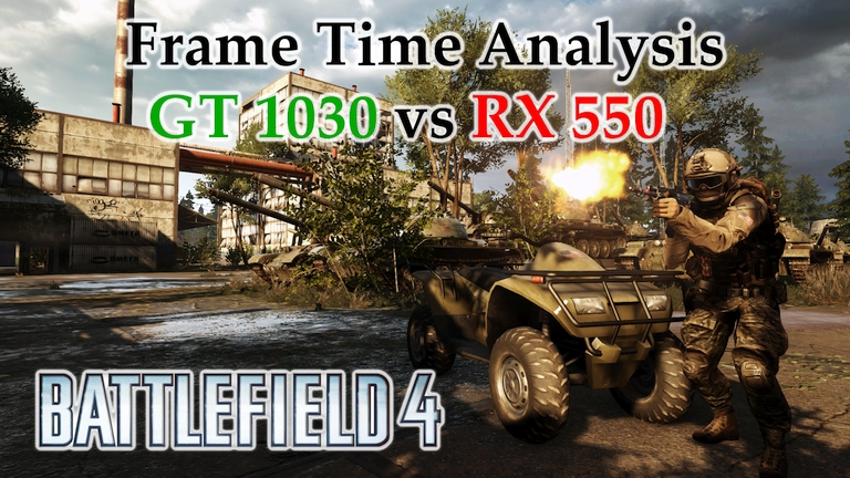 GT 1030 vs RX 550 Frame Time Analysis w/ G4560 - Battlefield 4 [ZAVOD 311]