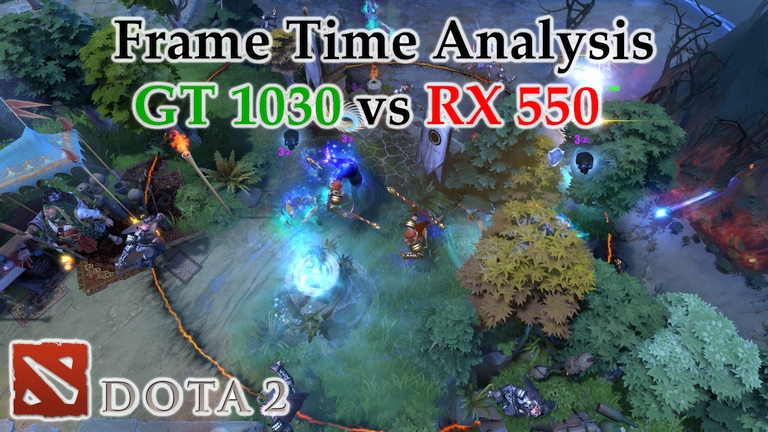 GT 1030 vs RX 550 Frame Time Analysis w/ G4560 - Dota 2 [BENCHMARK]