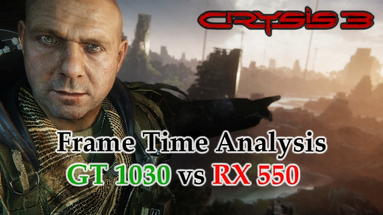 GT 1030 vs RX 550 Frame Time Analysis w/ G4560 - Crysis 3 [POST-HUMAN]