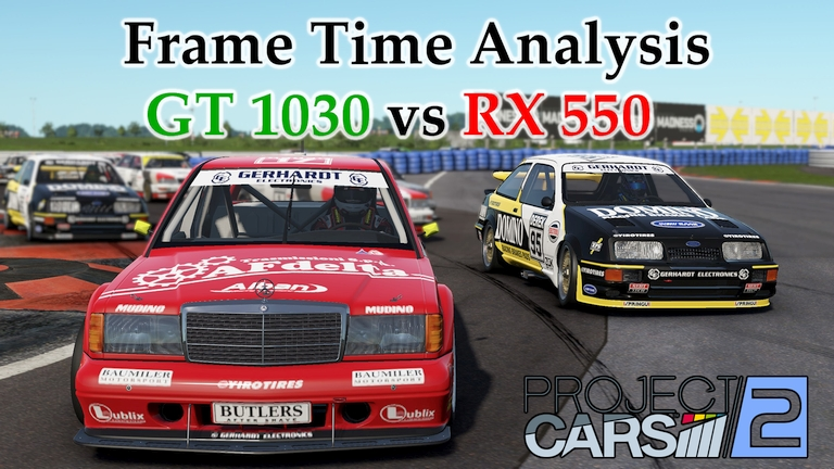GT 1030 vs RX 550 Frame Time Analysis w/ G4560 - Project CARS 2 [GROUP A @ OSCHERSLEBEN]