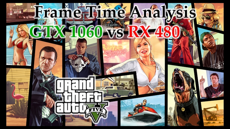 GTX 1060 vs RX 480 Frame Time Analysis - Grand Theft Auto V [BENCHMARK]