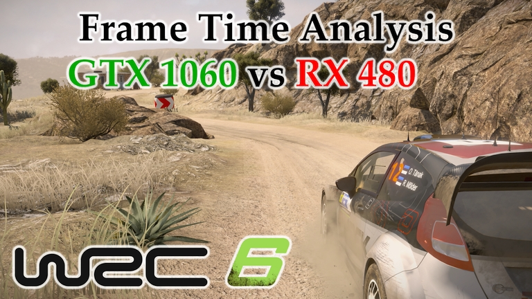 GTX 1060 vs RX 480 Frame Time Analysis - WRC 6 [RALLY MEXICO]