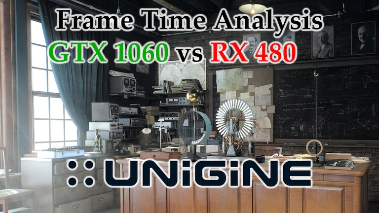 GTX 1060 vs RX 480 Frame Time Analysis - Unigine Superposition v1.0 DX11 [BENCHMARK]