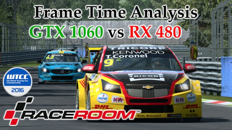 GTX 1060 vs RX 480 Frame Time Analysis - RaceRoom Racing Experience [WTCC 2016 - MONZA]