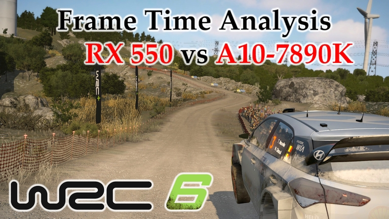 RX 550 vs A10-7890K APU Frame Time Analysis - Frame Time Analysis - WRC 6 [RALLY DE PORTUGAL]