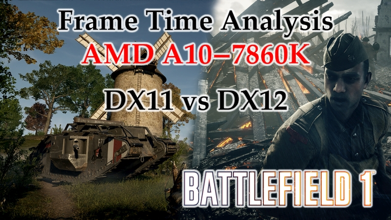 A10-7860K Frame Time Analysis - Battlefield 1 DX11 vs DX12