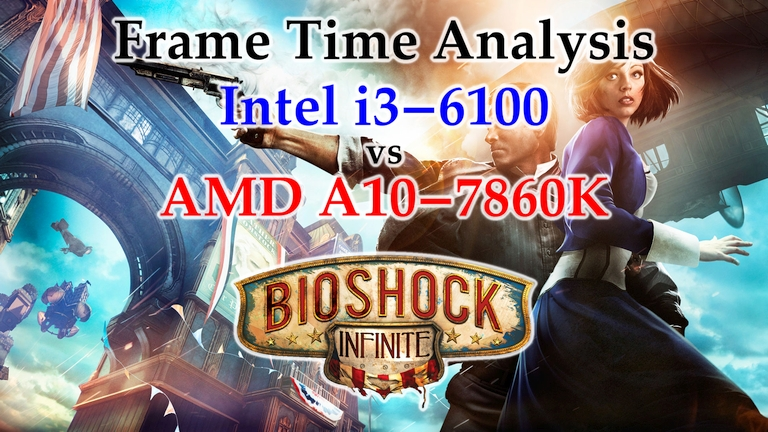 A10-7860K vs i3-6100 Frame Time Analysis – Bioshock Infinite