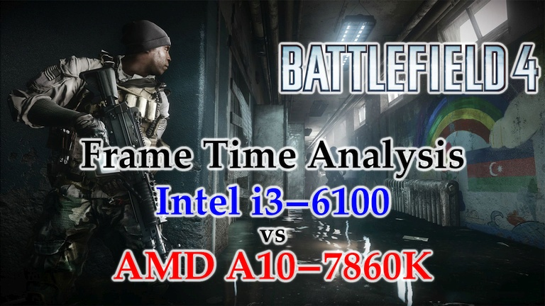 A10-7860K vs i3-6100 Frame Time Analysis - Battlefield 4