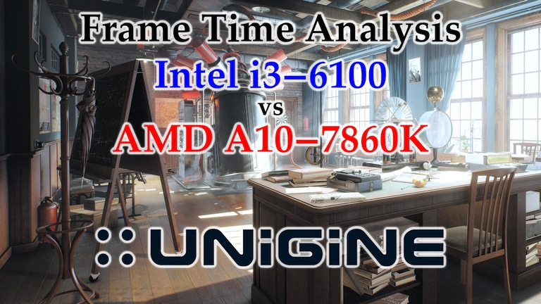 A10-7860K vs i3-6100 Frame Time Analysis - Unigine Superposition