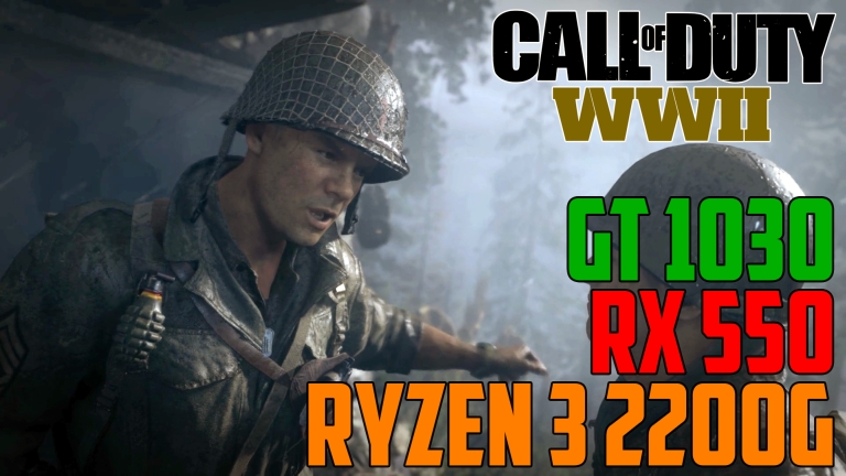 Call of Duty: WWII Hill 493 - GT 1030 | RX 550 | Ryzen 3 2200G OC