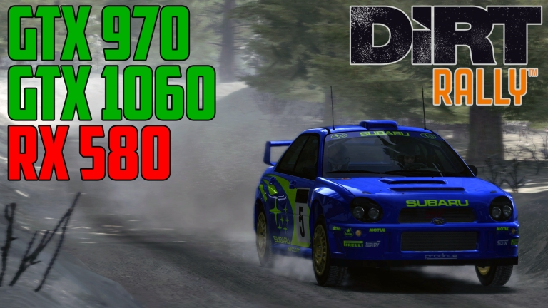 DiRT Rally Sweden - GTX 970 | GTX 1060 | RX 580