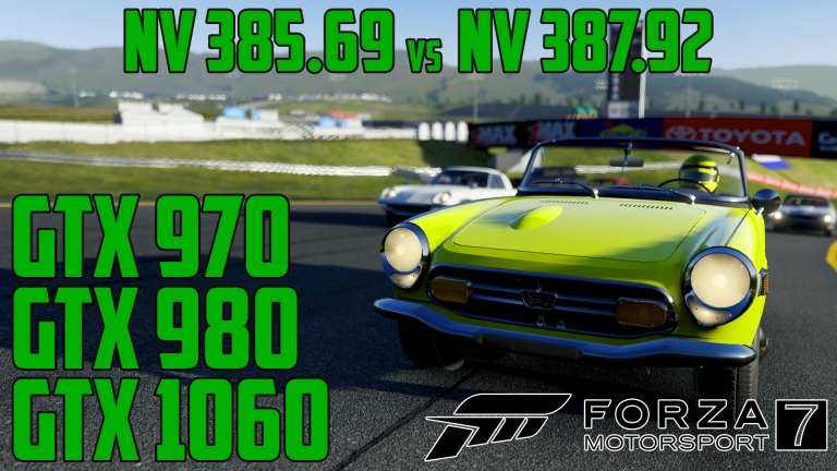 NV 387.92 driver boosts performance in Forza Motorsport 7 - GTX 970 | GTX 980 | GTX 1060