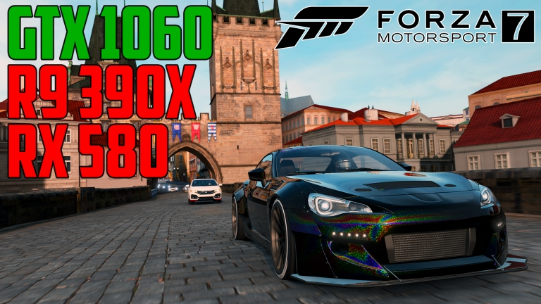 Forza Motorsport 7 in Prague - GTX 1060 | R9 390X | RX 580