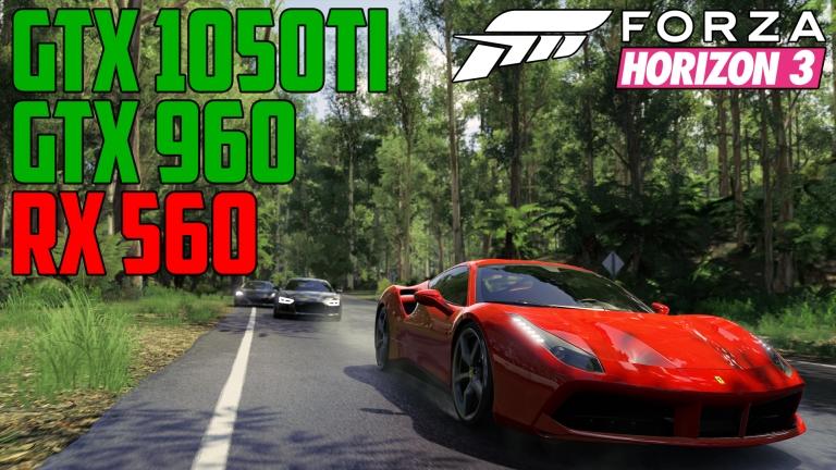 Forza Horizon 3 Rainforest Grand Sprint - GTX 960 | GTX 1050 Ti | RX 560