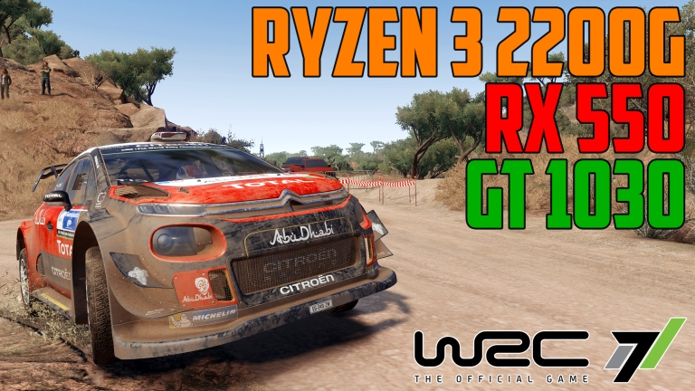 WRC 7 in Rally Mexico - GT 1030 | RX 550 | Ryzen 3 2200G OC