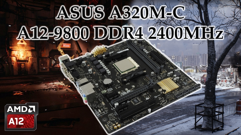 ASUS A320M-C A12-9800 Bristol Ridge mini preview